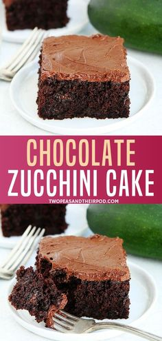 This Moist Chocolate Zucchini Cake With Chocolate Frosting Is Easy To Make And A Family Favorite Dessert! You Will Never Know There Is Zucchini In This Chocolate Cake Because It Is SO Good! Easy Desserts, Delicious Desserts, Dessert Recipes, Light Desserts, Healthier Desserts, Frosting Recipes, Cupcake Recipes, Muffins, Chocolate Frosting