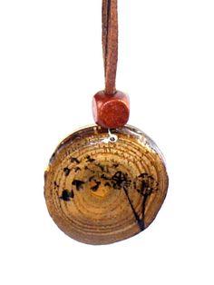 Dandelion Flying Birds Wood Burned Pendant Original by LadyDryad, $15.00