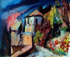 "Saatchi Online Artist Catalin Ilinca; Painting, ""the fortress of Gibralfaro"" #art"