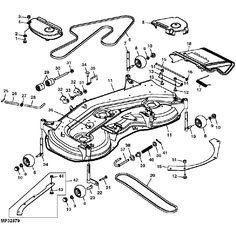 John Deere Pto Clutch Diagram furthermore John Deere 175 Lawn Mower Parts Diagram besides John Deere 180 Mower Deck Parts Diagram further  on t24987796 free belt routing diagrams john deere