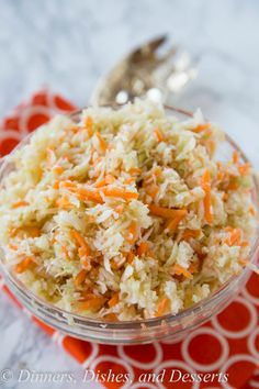 Summer Coleslaw - light and tangy no mayo coleslaw recipe that you can make all summer long! | Dinner's, Dishes & Desserts