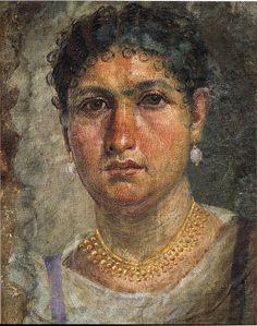 Mumienporträt der Aline, auch Tonos genannt, Tempera auf Leinwand, Höhe 42cm - Breite 32,5cm, um 24 n.Chr., gefunden in Hawara/Fayum; Ägyptisches Museum Berlin/Altes Museum