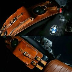 Bmw r45 r65 r80 r100 series leather tank belt and by maxakaido