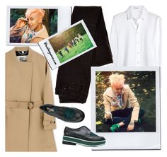 """""""Kim Namjoon / Papillon / BTS concept photos"""" by the92liner ❤ liked on Polyvore featuring Yves Saint Laurent, Burberry and Robert Clergerie"""
