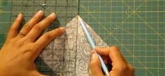 How to Make half square triangle quilted coasters