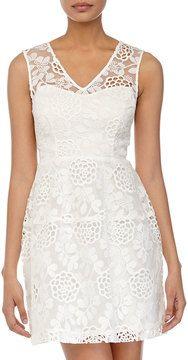 so pretty -- Betsey Johnson Lace-Front Sleeveless Dress, Ivory  -- http://www.hagglekat.com/betsey-johnson-lace-front-sleeveless-dress-ivory/
