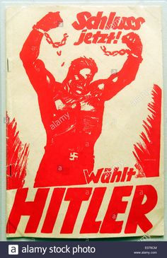 an-election-poster-from-the-1930s-in-germany-saying-vote-hitler-E076CM.jpg (898×1390)