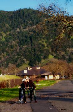 Bike tour, Calistoga Cool Wine Tour - Napa Valley, CA - Bike Rentals, Calistoga Bikeshop. Fun, pleasant, no rush, self guided tour.