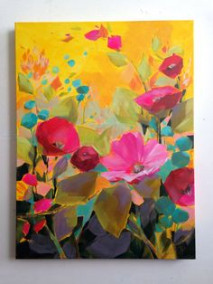 Late Summer inch gallery wrapped original floral acrylic painting by Jess Franks Art Inspo, Painting Inspiration, Arte Floral, Art Et Illustration, Abstract Flowers, Art Design, Acrylic Art, Oeuvre D'art, Art Techniques