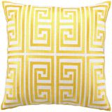 @TrinaTurk Embroidered Yellow Greek Key Pillow #tosspillow #throwpillow #accentpillow @LaylaGrayce $110