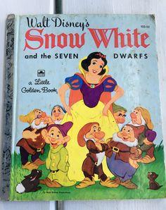 vintage Little Golden Book Walt Disney's Snow White and the Seven Dwarfs, 103-52, LGB Hardback by MotherMuse on Etsy