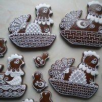 Velikonoce / Svátky | Fler.cz Hens And Chicks, Food Art, Gingerbread, Jar, Cookies, Desserts, Crack Crackers, Tailgate Desserts, Deserts