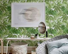 Aralia Leaves Pattern Wallpaper, Aralia Removable Wallpaper, Monstera Leaves Wallpaper, Fern Wall Sticker, Aralia Leaves Wallpaper, 204