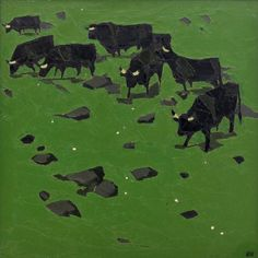 """Sir John """"Kyffin"""" Williams, KBE, RA (9 May 1918 – 1 September 2006) was a Welsh landscape painter who lived at Pwllfanogl, Llanfairpwll on the Island of Anglesey. Williams is widely regarded as the defining artist of Wales during the 20th century"""""""