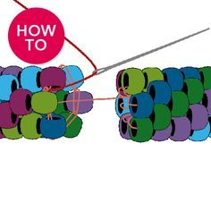 Bead Crochet Invisible Join from Fusion Beads. #Seed #Bead #Tutorial