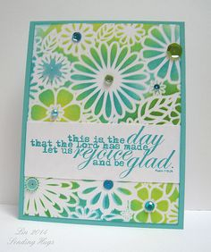 Stenciled Day 4, Dry Embossing | Flickr - Photo Sharing!