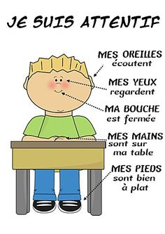 Teach Your Child to Read - Je-suis-attentif.jpg -Because language and culture are important - Give Your Child a Head Start, and.Pave the Way for a Bright, Successful Future. French Classroom, Classroom Rules, French Teacher, Teaching French, Teaching Spanish, How To Speak French, Learn French, Core French, French Education