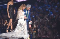 Beyoncé accepts an award onstage during the 2016 MTV Video Music Awards at Madison Square Garden on August 28, 2016 in New York City.