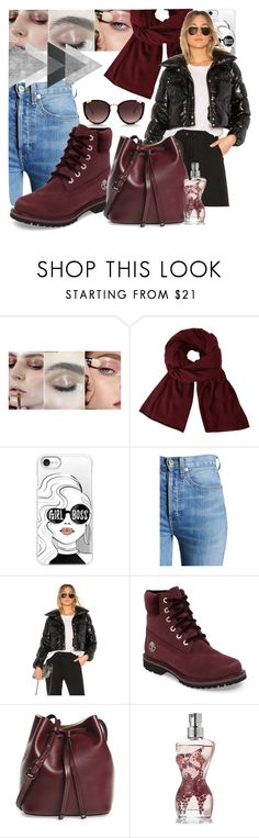 """""""puffer coat"""" by iandcheshirecat on Polyvore featuring moda, John Lewis, Casetify, RE/DONE, LPA, Timberland, Lodis, Jean-Paul Gaultier, Rebecca Taylor e polyvorecontest"""