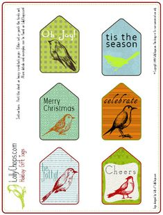 Lots of cute free printable gift tags