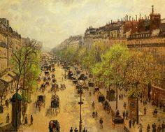 Boulevard Montmartre Spring - Camille Pissarro