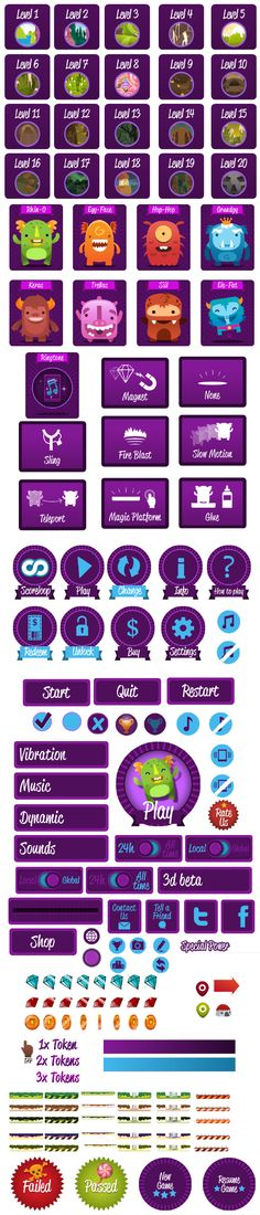Monster Up Adventures, game, app, ui, icons, icon, win, mobile