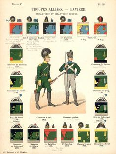 Королевство Бавария. Союзные войска. Пехота. 1806 Uniformes de I'Armee Francaise 1690-1894 Lienhart & Humbert
