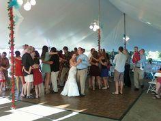 2014 July 4th Hudson Michigan wedding and reception