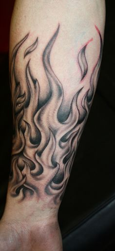 flame tattoos on arm | Flames Tattoo by Natissimo fire - flame tattoo design, art, flash ...