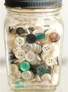 I love button jars - I am currently collecting buttons to make my own button jar to have on show!