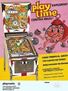 "1975 Playtime ""Playmatic"" Pinball Machine Flipper Pinball, Pinball Wizard, Arcade Machine, Classic Toys, Wizards, Arcade Games, Flyers, Console, Video Games"