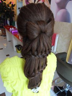Hair inspiration #amazing #hairdo #bow & #braids