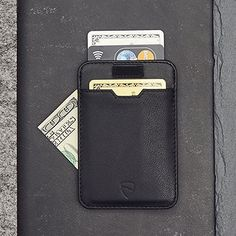 Chelsea Slim Card Sleeve Men's Wallet with RFID Protection by Vaultskin - Top Quality Italian Leather - Ultra Thin Card Holder Design For Up To 10 Cards