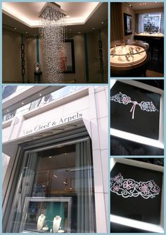 The inside image of Van Cleef & Arpels at Ginza Flagship store