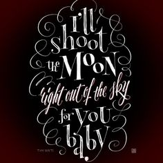 «Музыкальная цитата. Tom Waits. #music #quote #tomwaits #lettering»