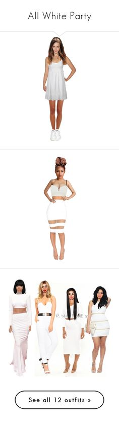 """All White Party"" by violet-diamonds ❤ liked on Polyvore featuring Hanro, Topshop, Ash, VioletDiamonds, River Island, Hervé Léger, Chanel, Demitasse, Finders Keepers and BOSS Green"