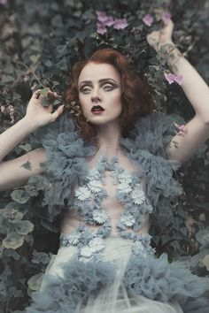 ❀ Flower Maiden Fantasy ❀ women & flowers in art fashion photography - lost…