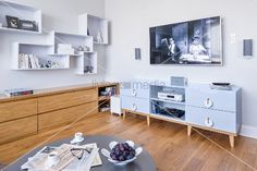 Image result for sideboard tv wall