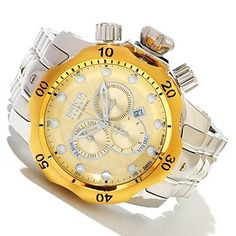 Invicta Reserve Mens Venom Swiss Made Quartz Chronograph Stainless Steel Bracelet Watch