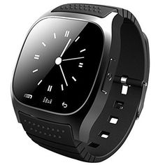 Smart WatchMindKoo M26 Wearable Bluetooth Wireless Wrist Smartwatch support AndroidiOS APP System Media ControlHandsFree CallsPedometerAntilost for iPhone 76S Samsung S7 Black * Read more  at the image link.