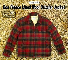 Boa Fleece Lined Wool Drizzler Jacket