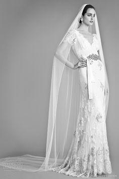 temperley london bridal fall 2012 honeysuckle wedding dress short sleeves