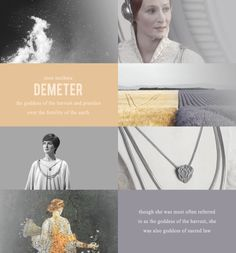 Mon Mothma - D E M E T E R : the goddess of the harvest and presides over the fertility of the earth - Though she was most often referred to as the goddess of harvest, she was also goddess of sacred law {Star Wars + Greek Mythology}