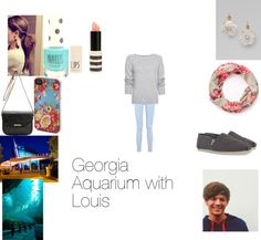 """""""Georgia Aquarium with Louis"""" by katiecastro ❤ liked on Polyvore"""