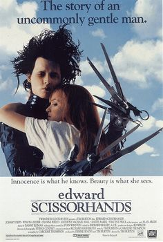 Edward Scissorhands Johnny Depp, Winona Ryder, Anthony Michael Hall, Dianne Wiest, and Vincent Price Eduardo Scissorhands, Edward Scissorhands Movie, Winona Ryder, 90s Movies, Great Movies, Movies To Watch, Scary Movies, Anthony Michael Hall, Beau Film
