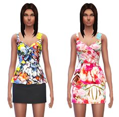 My Sims 4 Blog: Dress Recolors by Sim4ny