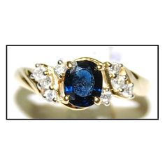 http://rubies.work/0195-ruby-rings/ 18K Yellow Gold Diamond Oval Solitaire Blue Sapphire Ring