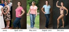 I've lost 60lbs and ditched the high cholesterol medication. Though I am still working on transforming my body shape, it took about 11 months to get to the basic size/weight I am now. I've maintained that (and improved!) for 8 months so far!    http://blog.bodylog.com/index.php/weight-loss-transformation-debi/#