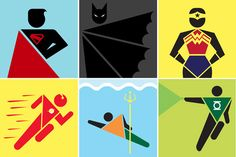 Justice League Public Sign Style