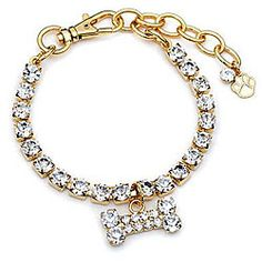 Buddy G Sparkling Austrian Crystal Gold-plated Pet Jewelry Collar overstock